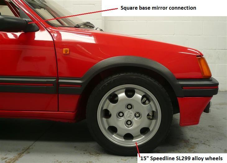 Peugeot 205 GTI 1.9l Speedline alloy wheels