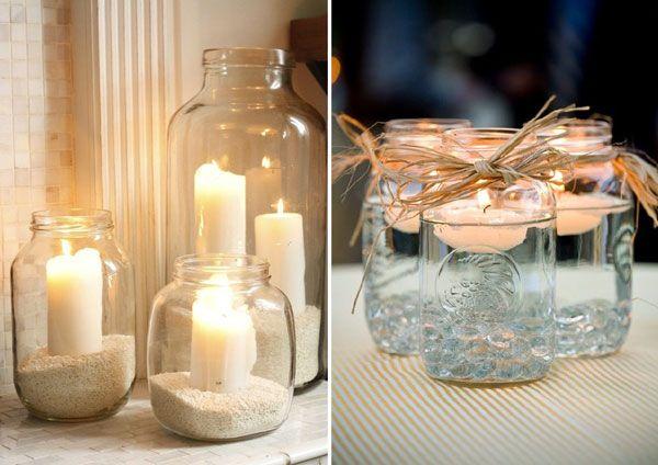 que faire avec des bouteilles et des bocaux mariage lunettes et bougies. Black Bedroom Furniture Sets. Home Design Ideas