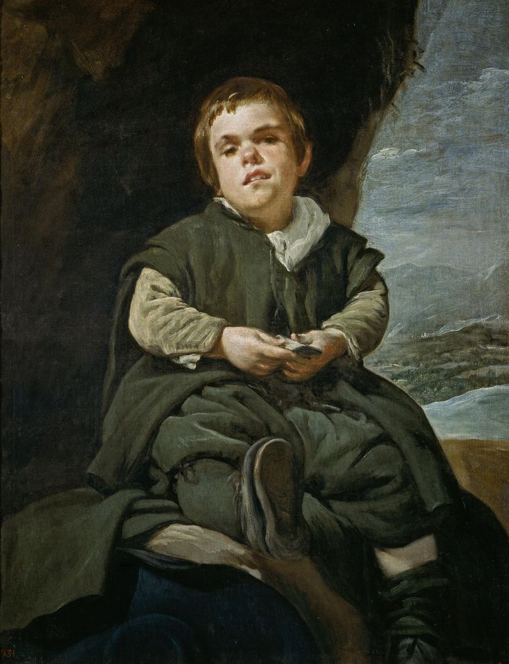 VELÁZQUEZ, Francisco Lezcano, el Niño de Vallecas, 1643-45. Museo del Prado,