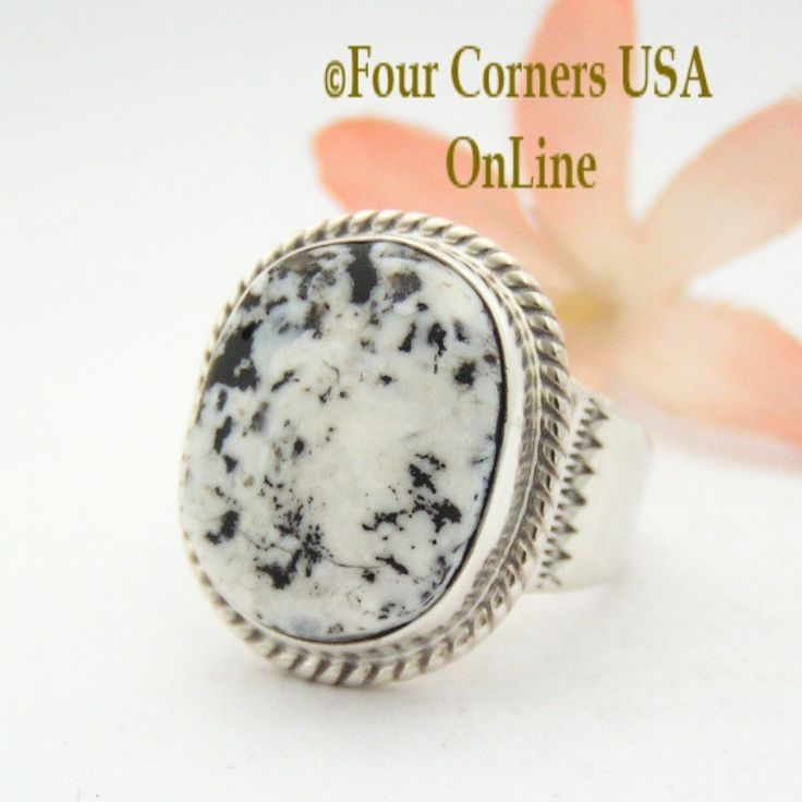 Four Corners USA Online - Size 10 White Buffalo Turquoise Ring Navajo Artisan Tony Garcia American Indian Silver Jewelry NAR-1550, $159.00 (http://stores.fourcornersusaonline.com/size-10-white-buffalo-turquoise-ring-navajo-artisan-tony-garcia-american-indian-silver-jewelry-nar-1550/)