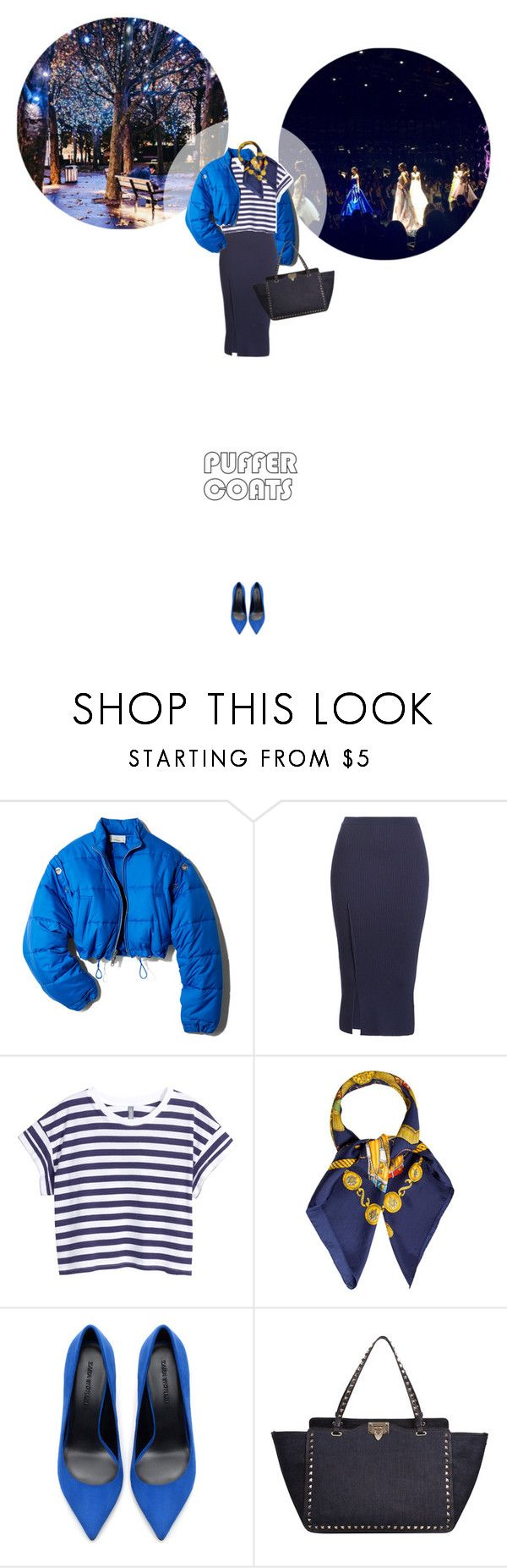 // 1335. Stay Warm: Puffer Coats. by lilymcenvy on Polyvore featuring H&M, 3.1 Phillip Lim, Victoria Beckham, Zara, Valentino, Hermès and puffercoats