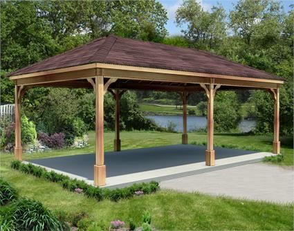 12 39 x 24 39 cedar ramada patios pinterest for Eyebrow pergola plans
