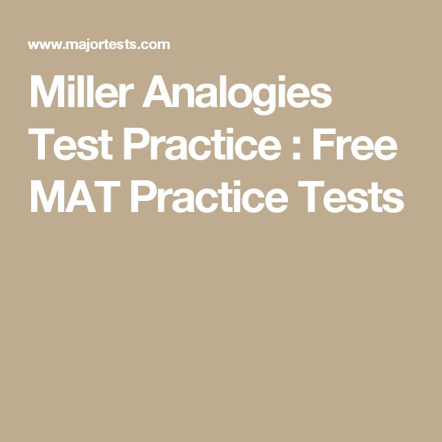 8 best images about Miller Analogies Test Study Guide on Pinterest
