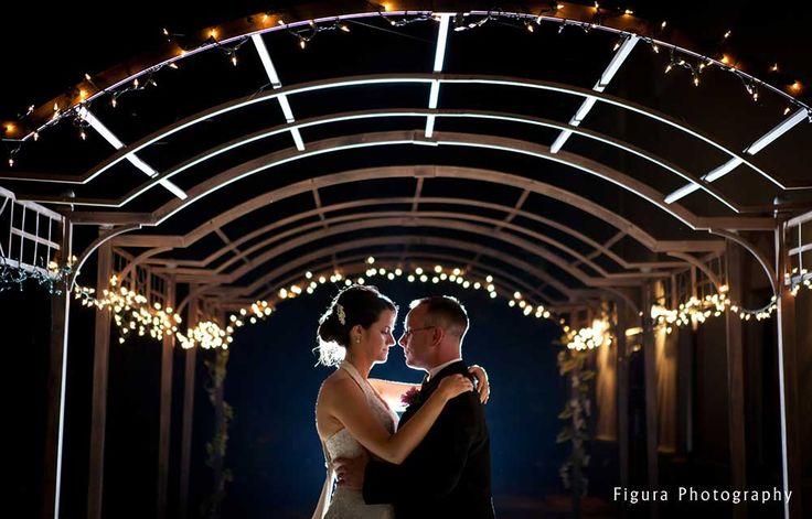 Our lighted pergola. Columbus Ohio Wedding Reception Venues | Brookshire #Brookshireweddings