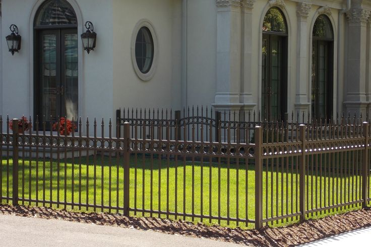 #Black #aluminum #fence