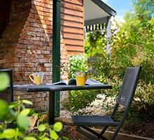 The private courtyard just needs you