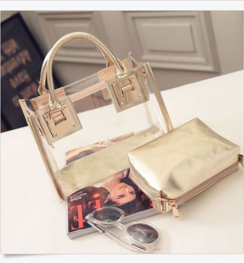 Fashion Women's Clear Transparent Shoulder Bag Jelly Candy Beach Handbag Cool #Unbranded #TotesShoppers