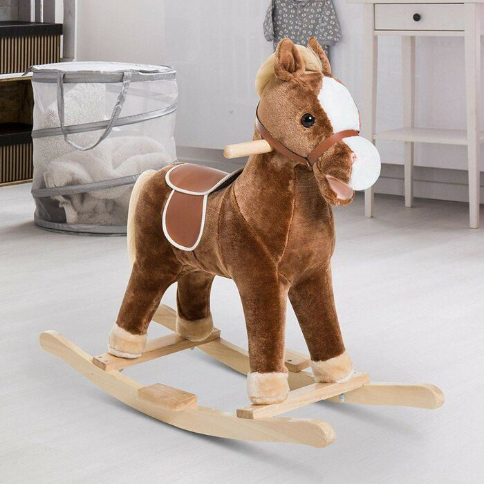 Kids Plush Toy Rocking Horse In 2020 Kids Plush Toys Rocking Toy Plush Rocking Horse