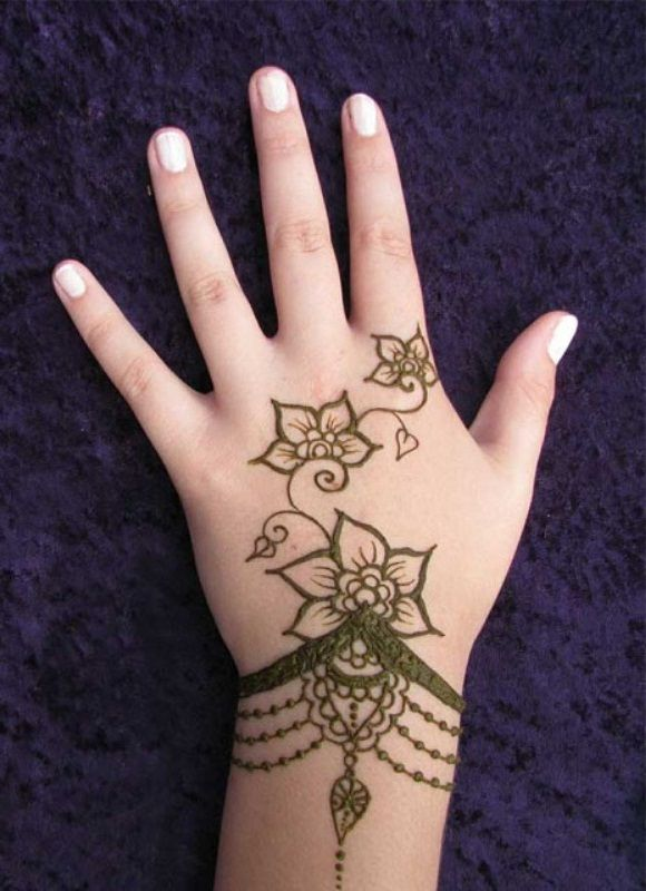 Mehndi For Hands Simple : Top best shaded mehndi designs simple hand