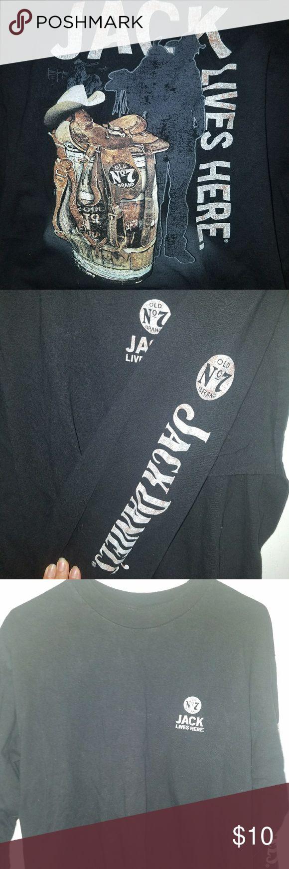 Design your own jack daniels t shirt - Men S Long Sleevws T Shirt Good Condition Jack No 7 Size L