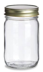 Specialty Bottle - 12 oz Eco Mason Glass Jar with Gold Lid, $0.98 (http://www.specialtybottle.com/glass-jars/mason-jars-canning-jars/12oz-eco12g)