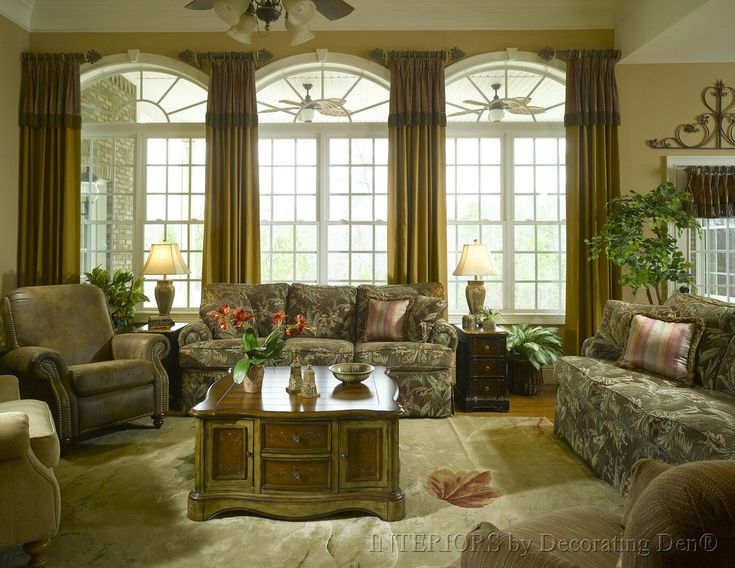 25 best short curtain rods ideas on pinterest model for Arched bay windows