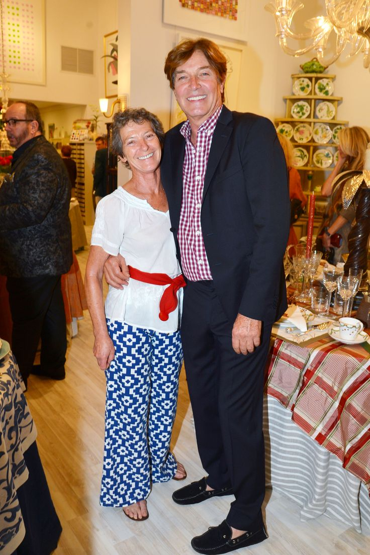 Princess Sybil de Bourbon-Parme and Cesare Barro at Mary Mahoney opening celebration