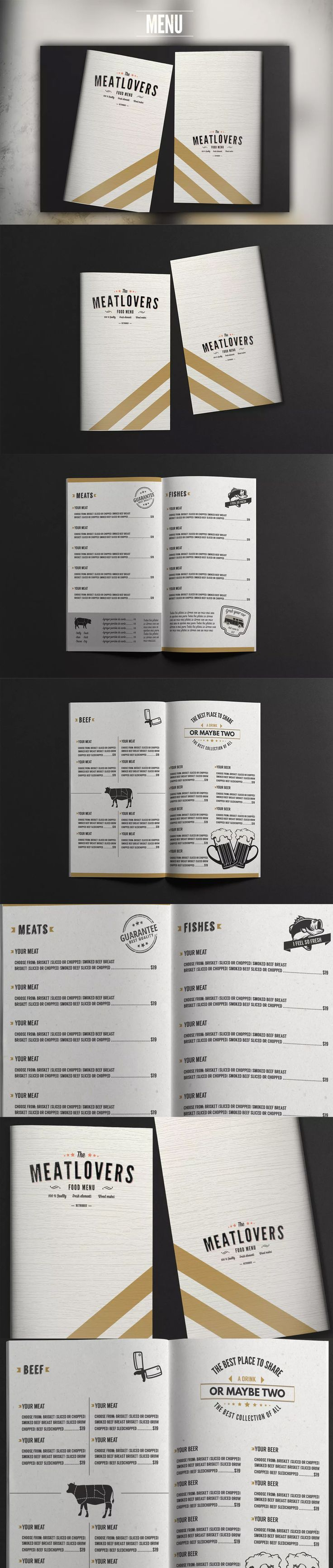 92 best food menu templates images on pinterest