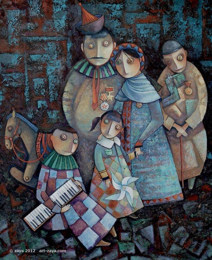 Art by ZAYA - Zayasaikhan Sambuu, Mongolian painter.