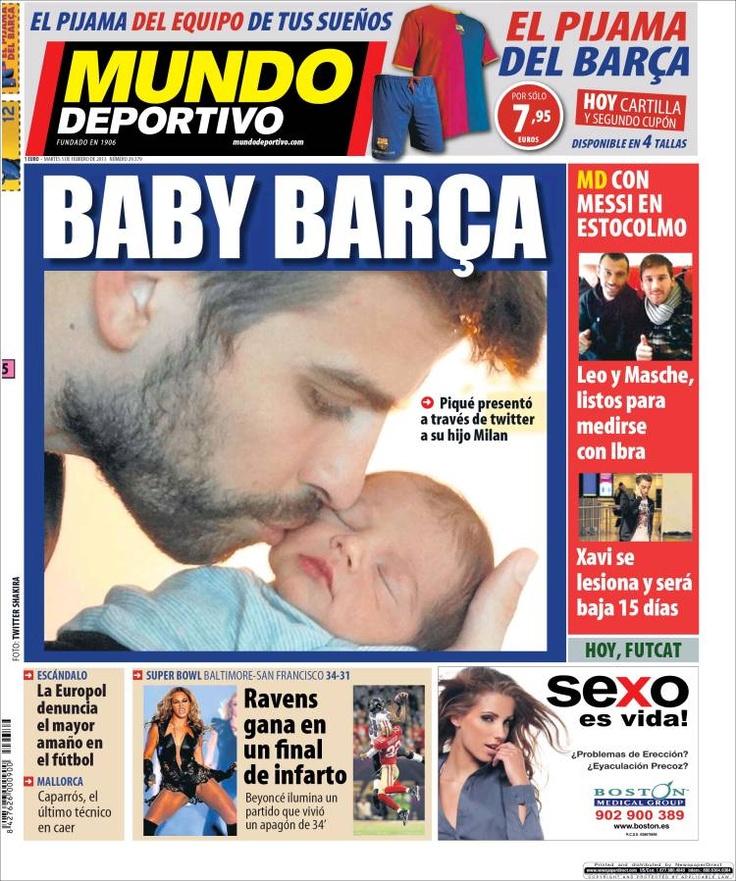 Los Titulares y Portadas de Noticias Destacadas Españolas del 5 de Febrero de 2013 del Diario Mundo Deportivo ¿Que le parecio esta Portada de este Diario Español?