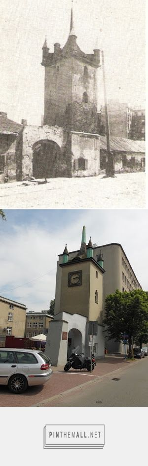 Gołębnik (ul. Puławska) przed 1939 i w 2017 - created via https://pinthemall.net