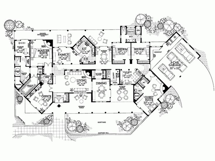 luxury modern mansion floor plans httpacctchemcomluxury - Mansion House Plans