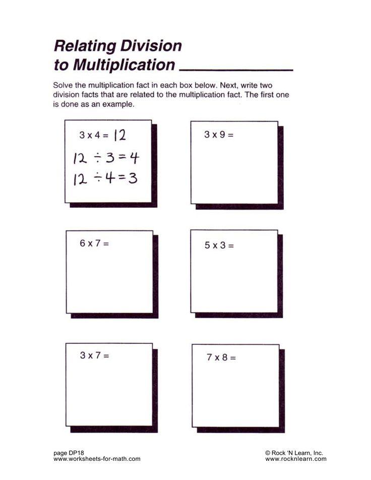 12 best Math Worksheets images on Pinterest Math facts, Basic - multiplication and division worksheet