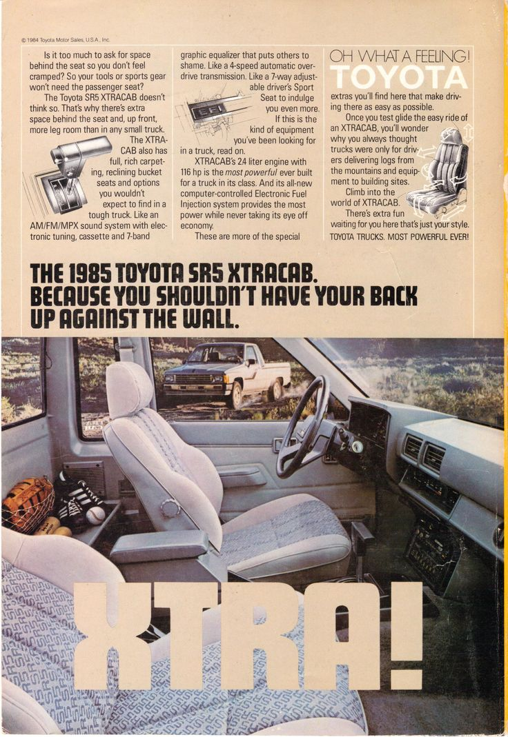 1985 toyota sr5 extracab pickup truck national geographic march 1985