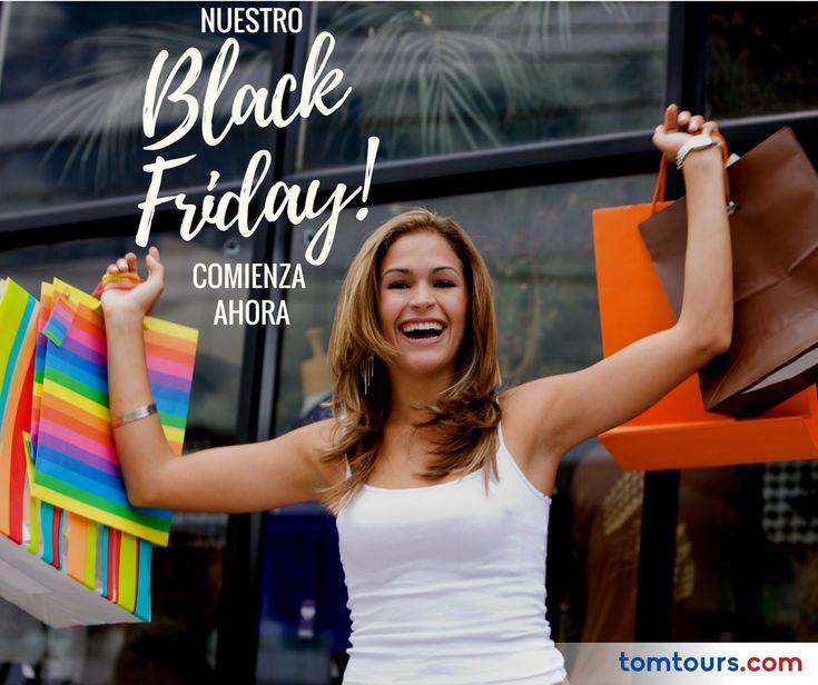 Nuestro #BlackFriday es toda la semana! Desde hoy lunes, estaremos ofreciendo descuentos importantes en nuestras tarifas a todo #Latinoamérica ¡Compre con tiempo, consiga el mejor precio! Comuníquese al (212) 947-3131. #Vuelos #SomosLatinoamérica #TomTours