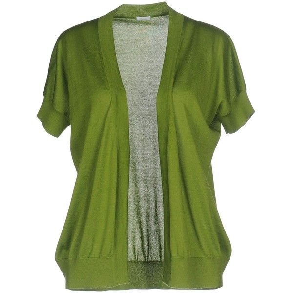 Malo Cardigan ($580) ❤ liked on Polyvore featuring tops, cardigans, green, green cardigan, malo, short sleeve tops, short sleeve cardigan and green cashmere cardigan