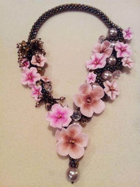 crochet cherry blossom flowers | Cherry Blossom