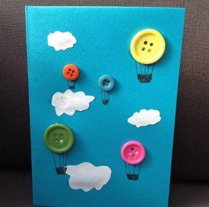 открытки своими руками - из пуговиц