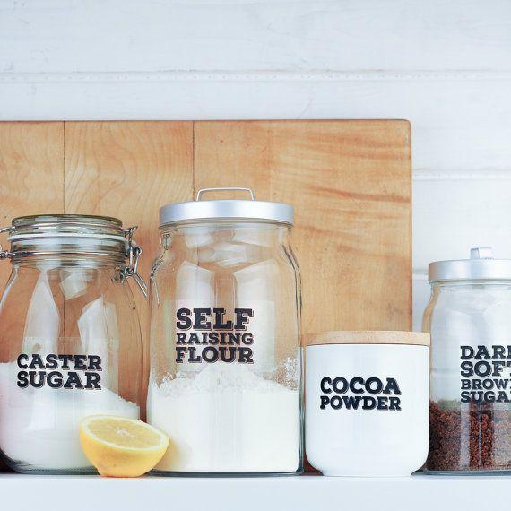 Really Useful Pantry Labels: Starter Set by wearebreadandjam
