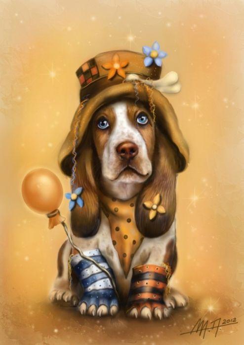 Открытки советские, прикольные картинки и рисунки собак
