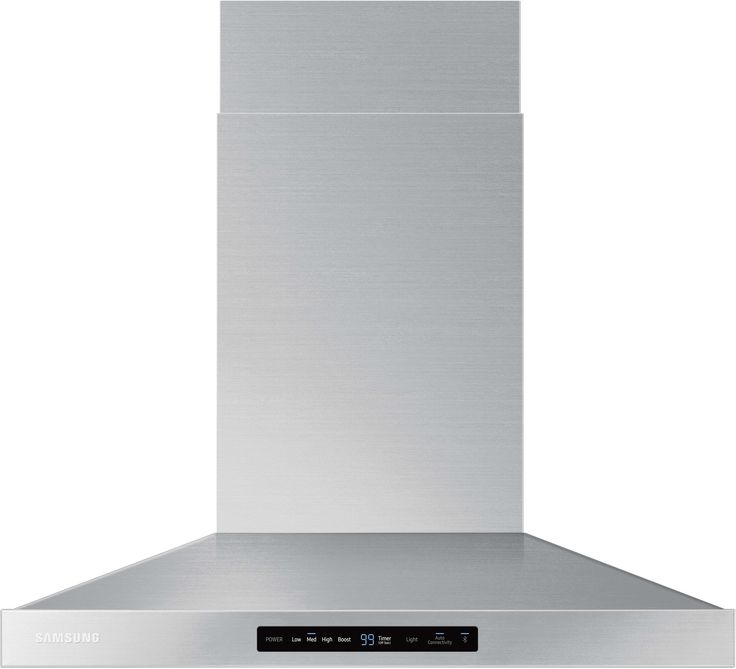 Samsung NK30K7000WS 30 Inch Wall Mount Chimney Range Hood with 600 CFM, 4 Speeds, Booster, LED Cooktop Lighting, Digital Touch Controls, Dishwasher Safe Metal Filters and ADA Compliance with Wi-Fi Connectivity: Stainless Steel