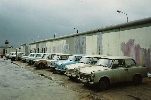 Berlin Wall Trabi Car Park, East Berlin 1990