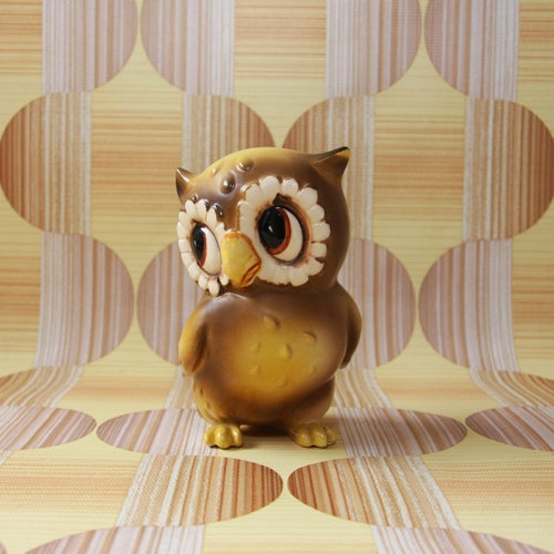 retro owl figurine