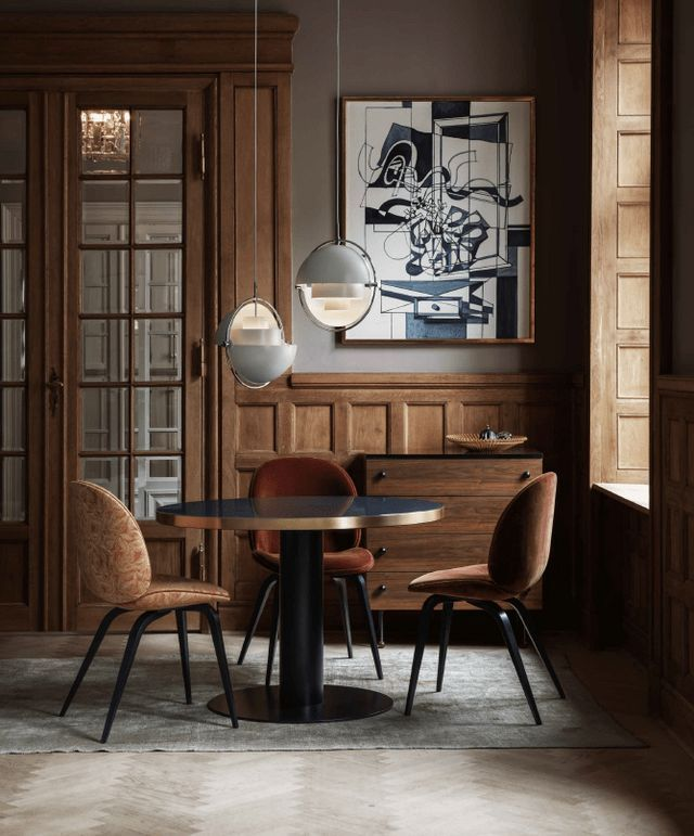 These inspirational pictures from Danish furniture brand Gubi look very inviting and sophisticated. I like that one part of the catalog has pictures in a warm scenery while the other part has a colder