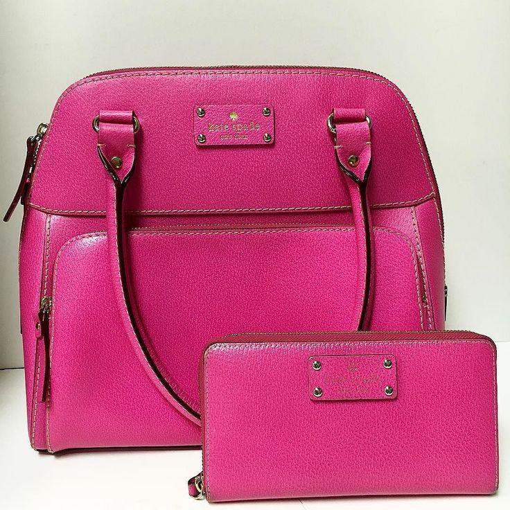 Kate Spade Pink Leather Bowler Satchel 'Wellesley Maeda'  Kate Spade Pink Leather Zip Around 'Wellesley' Wallet  Item#: 16693-23(bag) 16693-22(wallet) Price: $134.99(bag) $41.24(wallet)  Location: Sandy springs  To purchase or see more pictures and details please call 770.390.0010 ex. 3  #alexissuitcase #buckhead #atl #atlantaconsignment #thriftatl #resale #highenddesigner #consignment #luxury #designer #resaleatlanta #boutique #atlanta #fashioninspiration #shopmycloset #upscaleresale…