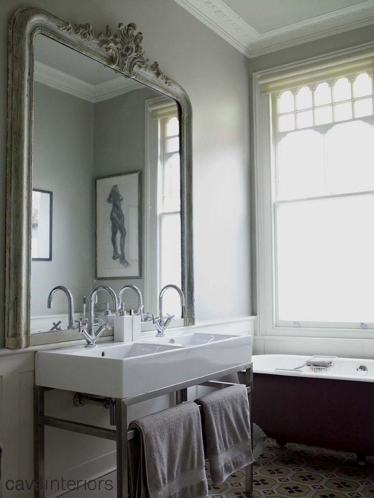 #Mirror #tile #sink - Cave Interiors
