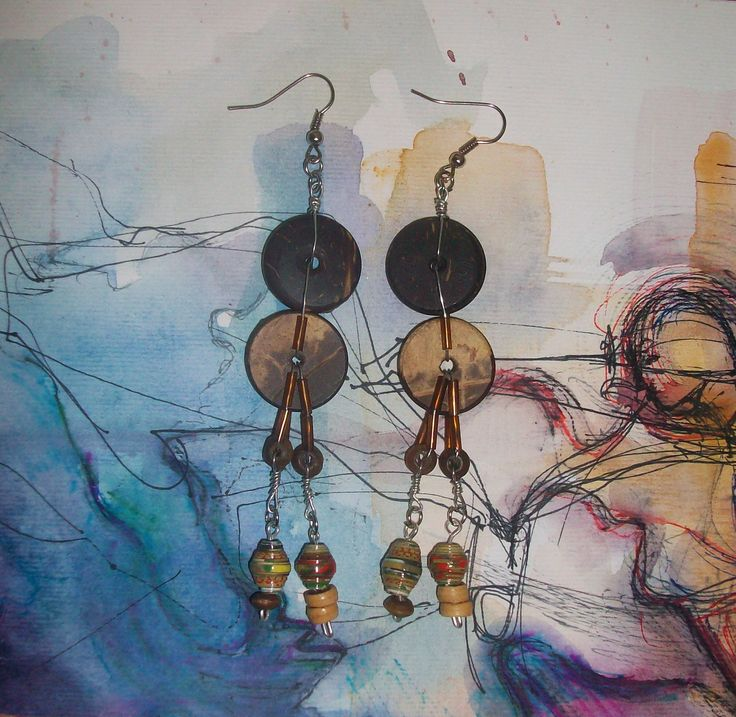Ne Na handmade earrings/ art
