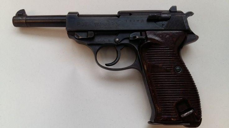 WALTHER P.38 - Prodám pistoli P.38, výrobce: Mauser-Werke A.G. Obendorf a.N., rok výroby: 1943, výrobní kód: byf 43, výrobní číslo: 1814h, ráže: 9mm Luger. Vše originál,plně funkční,komplet sčíslováno,v původním stavu vč.brynýru a zásobníku,vývrt ve 100%ním stavu,bez tormentace.K nákupu nutný ZP+NPhttps://s3.eu-central-1.amazonaws.com/data.huntingbazar.com/11767-walther-p-38-pistole.jpg
