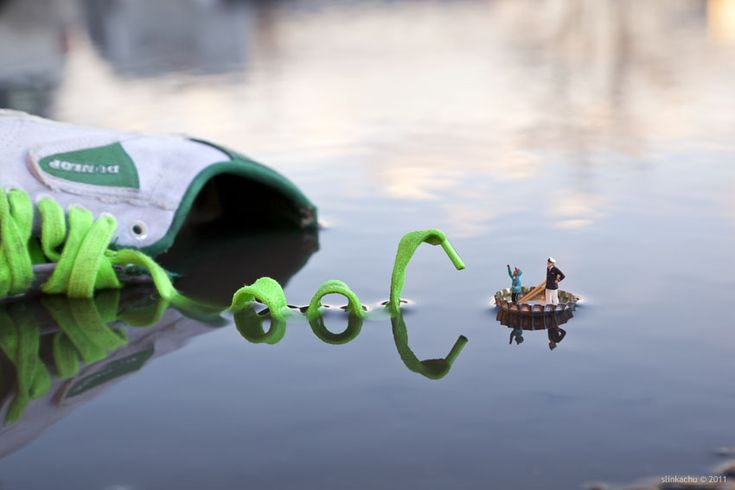Little People - a tiny street art project  SLINKACHU
