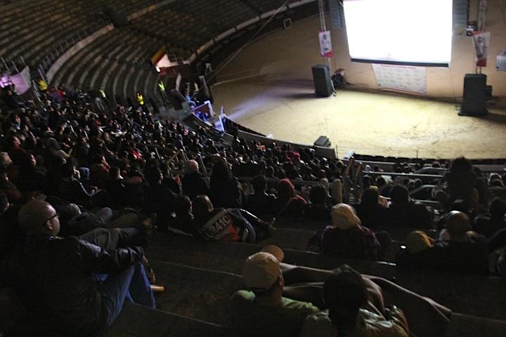 El público momentos antes de deslumbrarse con Apaporis, ganadora 2012. Crédito Miltón Ramírez @FOTOMILTON / MinCultura 2012