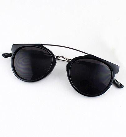 Black Lenses Round Sunglasses -SheIn(Sheinside) Mobile Site