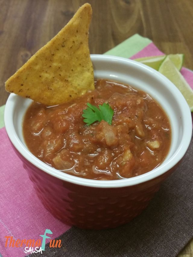 Having a Thermomix means we can make our salsas and dips additive and preservative free.  We enjoy this salsa with corn chips or served on nachos.  If you like it with lots of heat I would definitely add a red chilli – but this is optional depending on how you like it.  If you prefer...