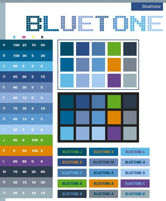 Color Schemes | Blue tone color schemes, color combinations, color palettes for print ...