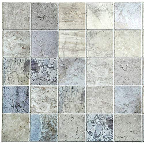 Dundee Deco Pg7044 Blue Beige Faux Distressed Marble Squares 3 2 Ft X 1 6 Ft Pvc 3d Wall Panel Interior Design Wa In 2020 Marble Square 3d Wall Panels Wall Paneling