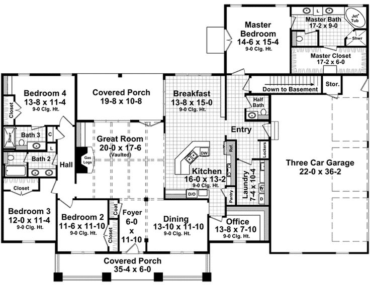 Cabin & Cottage House Plan First Floor - 077D-0282 | House Plans and More