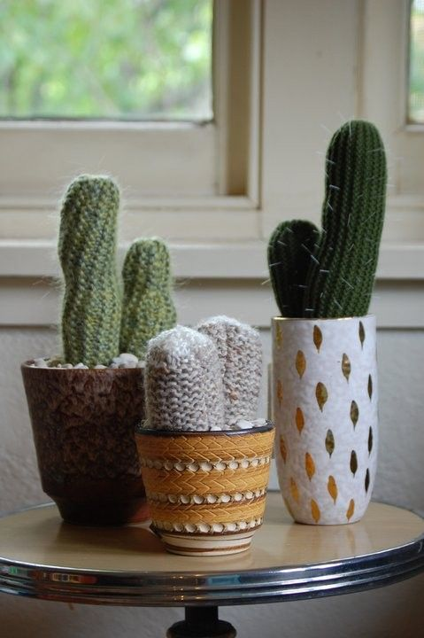 VINTAGE COLLECTION Handknitted Cactus by oddsandendshandmade, $1.00