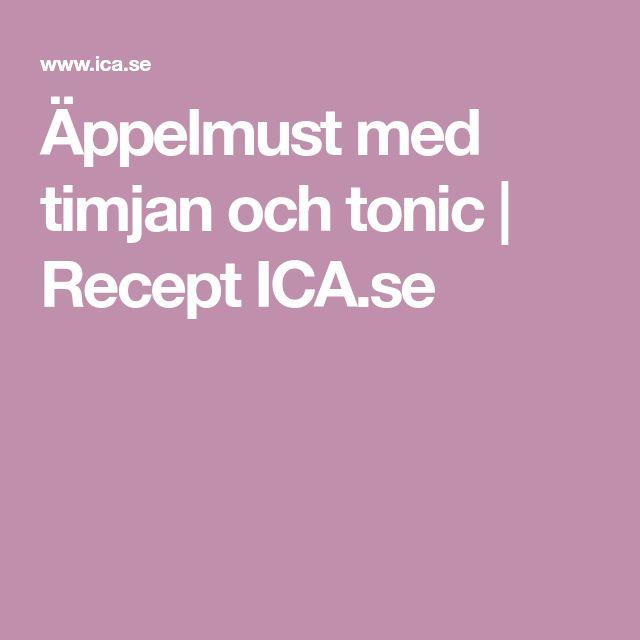 Äppelmust med timjan och tonic | Recept ICA.se