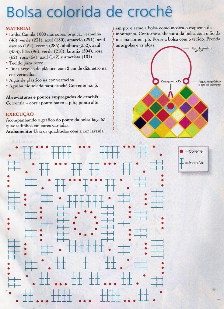 Fiesta Patrones Bolso Crochet Patron Cartera De qwOE7fg6