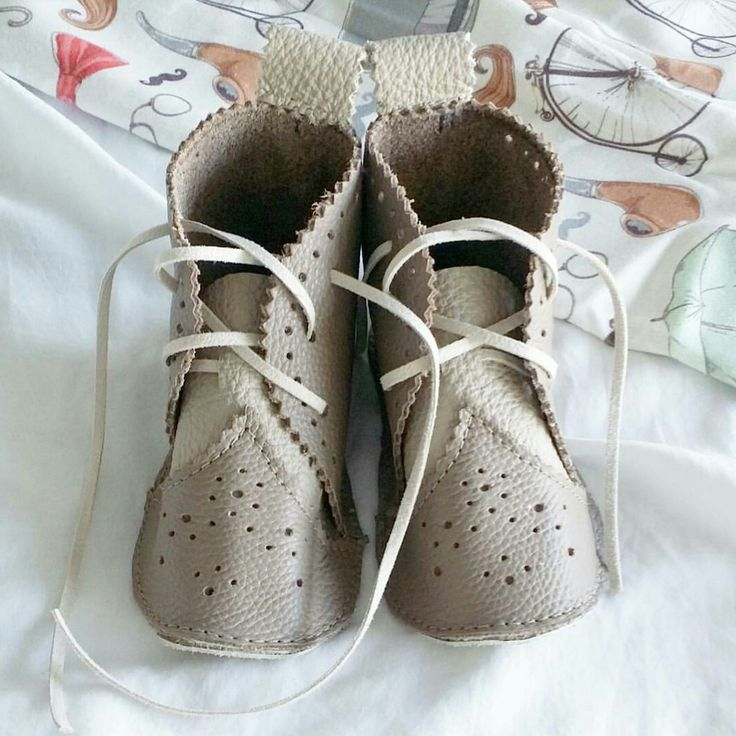 Handmade leather Baby OXfords. Made with love in Toronto.