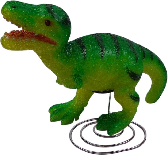 Green Dinosaur Night Light Prev Stop Play Next Dinosaur lovers will love this 32cm green dinosaur night lamp. It is the perfect, fun way to add character and comfort to a child's bedroom. The soft 6 watt bulb emits a gentle light, creating a soothing bedtime atmosphere. Made from flexible EVA material, this lamp is soft to touch and sits on an attractive chrome base. Includes power adaptor, bulb, instructions and comes packaged in a clear display box. Safety Note This is an electrical…